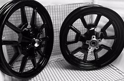 Harley Rims Dyna Low Rider Low Rider S Custom Gloss Black Oem Wheels Outright