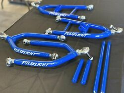 Yamaha Blaster+2 A-arms For Banshee/yfz450 Spindles Hubs And Brakes Blue Sale