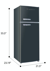 New 7.5 Cu Ft Retro Mini Fridge with Freezer Small Apartment Dorm Refrigerator