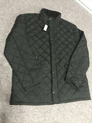 Howick Shower Resistant Pembroke Quilted Jacket Evergreen Size Xl
