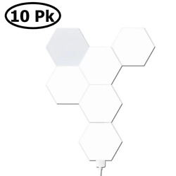 TOUCH SENSITIVE HEXAGON LIGHTS FOR WALL FOR BEDROOM LIGHT UP GAMING LED 10 PACK