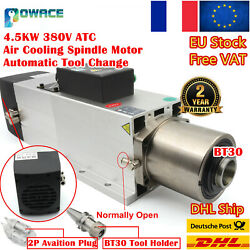 Fraandrarr4.5kw Bt30 Automatic Tool Change Atc Air Cooled Spindle Motor 380v 24000rpm