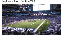 2 Indianapolis Colts Psl Season Ticket Rights Section 223