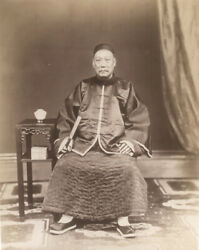 Vintage 1870 Photograph Of A Wealthy Comparado By Floyd, Hong Kong