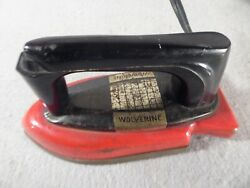 Vintage Children's Toy Red Electric Iron Wolverine Company 1950s Metal Ironing