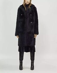 Joseph Shearling Fur Long Hector Teddy Coat - Rrp Andpound2190