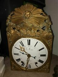 Vintage Ancient Ler Mare Grandfather Clock Gold-colored
