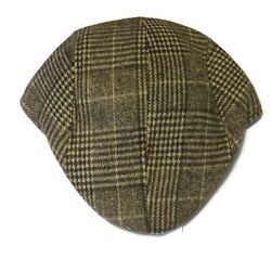 American Bears Mens Houndstooth Cabbie Newsboy Cap Hat New Nwt