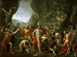 Leonidas At Thermopylae Oil Painting Giclee Printed On Canvas