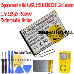 1500mah Replacement Battery For Bw Gasalert Microclip Gas Detector Mc-xw00