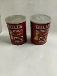 Vintage Hills Bros Brothers Coffee Can Tins