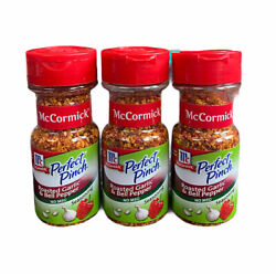 3 Bottles Of Mccormick Perfect Pinch Roasted Garlic And Bell Pepper Exp 02/2022