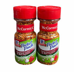 2 Bottles Of Mccormick Perfect Pinch Roasted Garlic And Bell Pepper Exp 2022