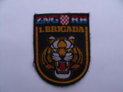 Croatian Army Original Patch 1st Brigade Of The National Guard Corps - Tigers