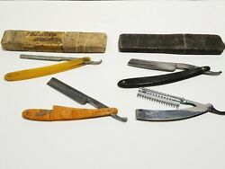 Antique Vintage Lot Of 4 Straight Razors F Weck Holley Mfg Fromm Adoration 296