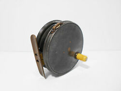 Vintage Early Hardy Perfect 3 3/8 1906 Check Contracted Fly Fishing Reel
