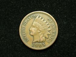 Spring Sale Xf 1905 Indian Head Cent Penny W/diamonds And Full Liberty 26t
