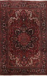 Vintage Geometric Traditional Area Rug Wool Hand-knotted Oriental Carpet 7x10