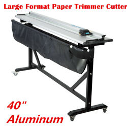 40 Aluminum Alloy Large Format Rotary Paper Trimmer Cutter With Support Stand