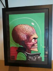 Mike Mitchell Mars Attacks Portrait Signed Giclee 2013