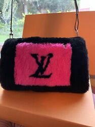 Louis Vuitton Black/hot Pink In The City Beaver Muff Bag.