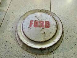 One 1958 1959 And 1960 Ford Pickup Dog Dish Hubcap - Wall Hanger / Rat Rod