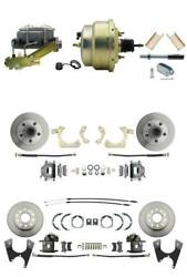55-57 Chevy Front And Rear Disc Brake Conversion Kit With 8 Booster - Bdc0003
