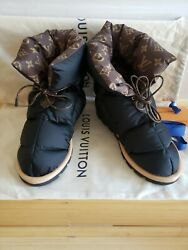 Louis Vuitton Pillow Snow And Rain Boot Water Repellent Nylon And Monogram Canvas 40
