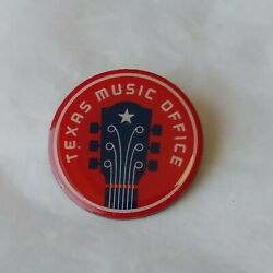 Texas Music Office Logo Lapel Pin Clearinghouse For Texas Music Red Guitar