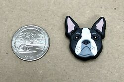 Crocs Designer Jibbitz Charms Boston Terrier Puppy 100% Authentic