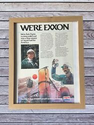 1980s 80s Weandrsquore Exxon Mobile Framed Print Ad Advertising 8x10 Oil And Gas Ad