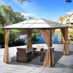 Yitahome 10and039x12and039 Hardtop Gazebo Canopy Party Mosquito Net Party Tent For Picnic