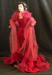 Gone With The Wind Collection, Scarlett In Red, Franklin Mint Heirloom Dolls