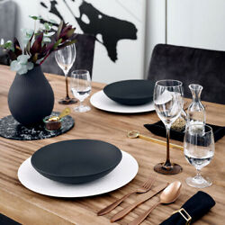 Villeroy And Boch Manufacture Rock Porcelain Dining Set Collection In Sets Of 6