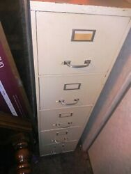 2 - Art Medal Usa Fireproof 5 Drawer Legal Size Filing Cabinets 15x28x58