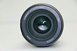 Leica Summarit-s 70mm F/2.5 Asph Lens For S-system