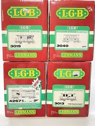 Lgb Lehmann G Scale 4 Cars-3013-3019-3040-4267s-and 1 Set 20301-excellent Cond