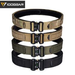 Idogear 2 Tactical Belt Quick Release Metal Buckle Laser Molle Military Hunting