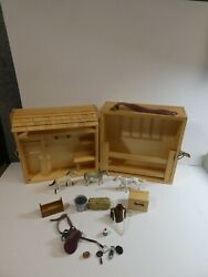 Breyer Wooden Horse Barn Stable Case w 3 Stablemates and Accessories