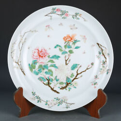 14. Old China Porcelain Qing Dynasty Yongzheng Mark Colour Enamels Peony Plate