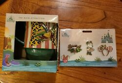 Minnie Mouse The Main Attraction Mug And Pins Limited Jungle Cruise In Hand