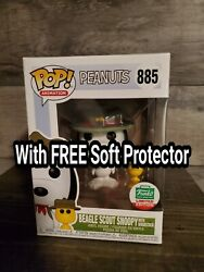 Funko Pop Exclusive Beagle Scout Snoopy with Woodstock Peanuts On Hand