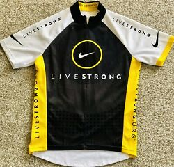Livestrong Lance Armstrong Era Cycling Jersey Size Small Black White Yellow