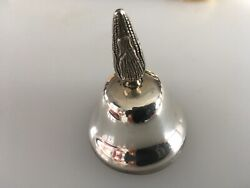 Sanborns Sterling Silver Solid Dinner Bell Mexico Corn Handle 130g 2.75 Tall