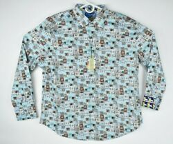 New Robert Graham Menand039s Stay Tuned L/s Woven Shirt 298 Size 2xl 3xl 298