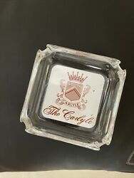 The Carlyle Hotel Ashtray Glass Excellent Cond