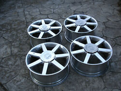 4 Cadillac 2004-08 Xlr Factory Polished Wheels Rims W/ Center Caps And Tpms Valves