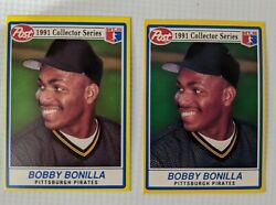 1991 Post First Collector Series Bobby Bonilla Lot Of 2 Mlb Pittsburgh Pirates