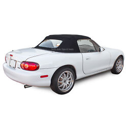 Miata Convertible Top One-piece With Glass Window In Black Stayfast Cloth