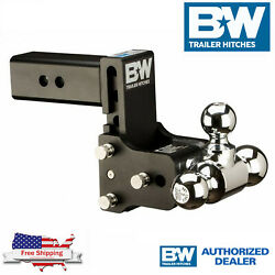 Bandw Tow And Stow Magnum 7 Adjustable Hitch Tri Ball Mount With 2.5 Receiver